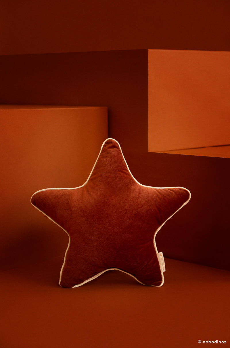 Aristote Star Cushion in Wild Brown - Pre-order Now