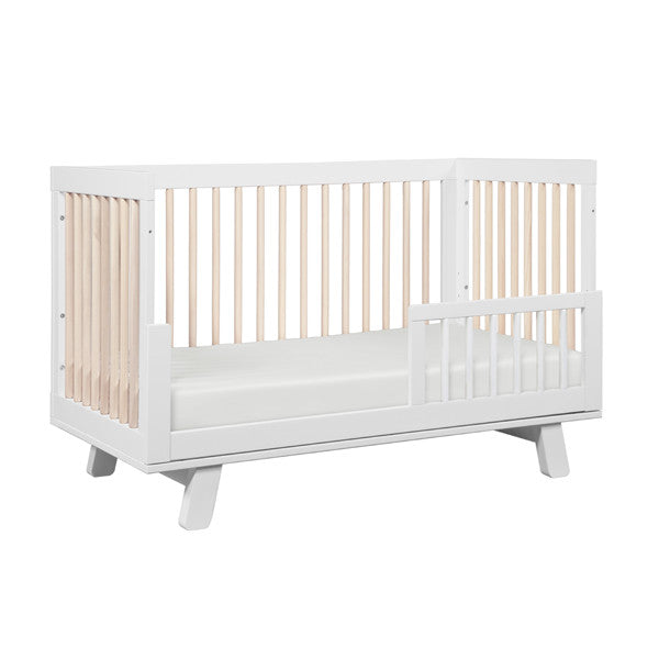 Babyletto - Hudson Cot - White and Washed Natural
