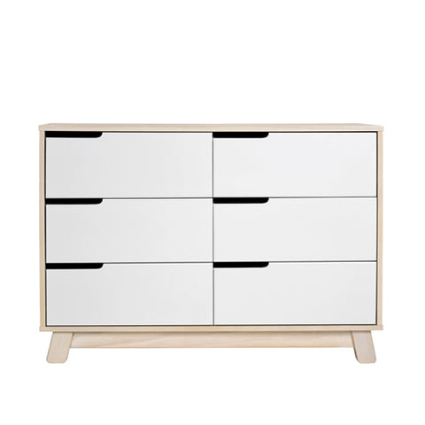 Babyletto - Hudson Dresser 6 Drawer - Washed Natural/White