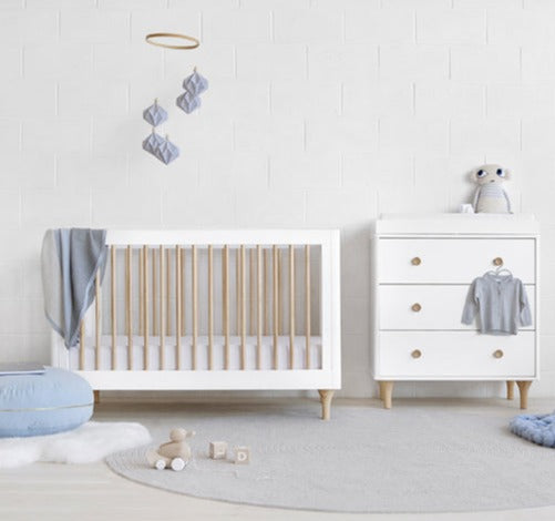 Babyletto Lolly Cot & Change Table Package - White