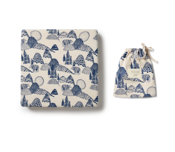 Organic Fitted Cot Sheet - Little Mountains