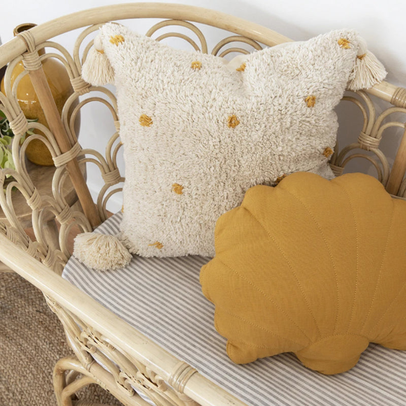 Mustard Shell Cushion