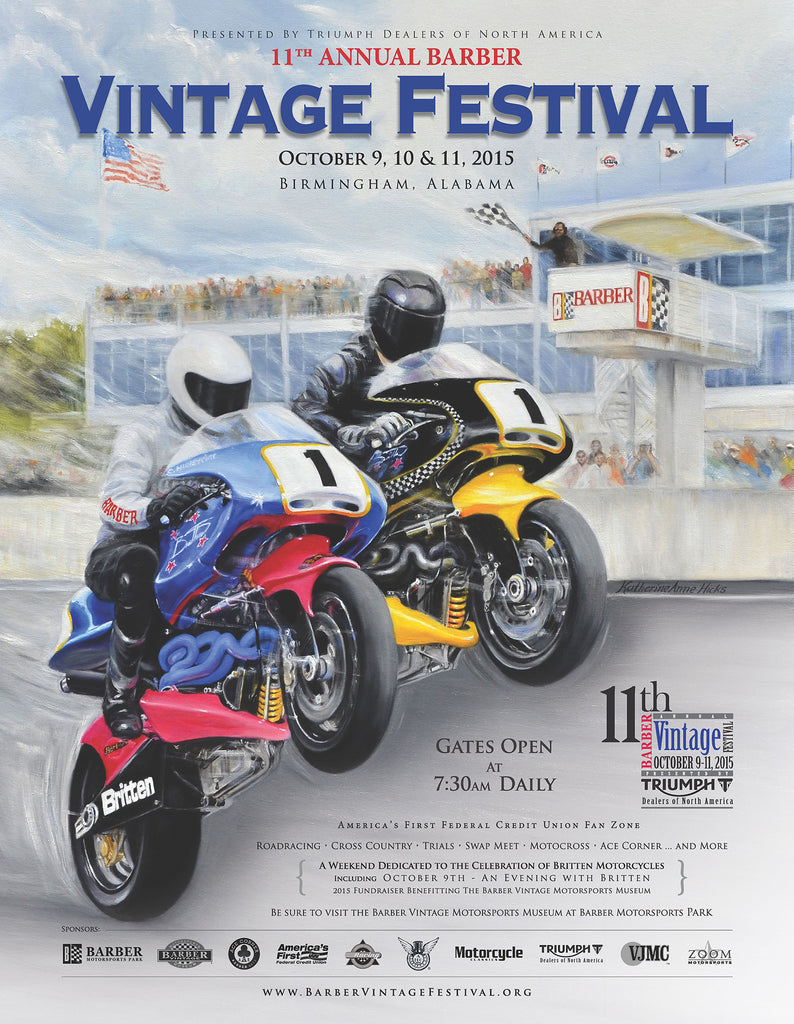 11th Annual Barber Vintage Festival Poster