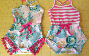 Emerie Romper - Faux Drawstring Tutorial