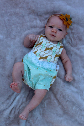 Canyon Romper PDF Pattern Baby NB-2T