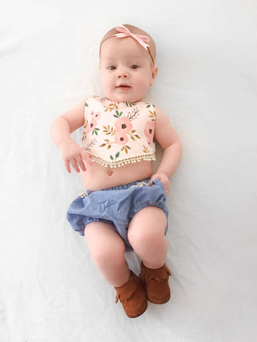 Canyon Bib and Bloomers PDF Pattern Baby NB-2T