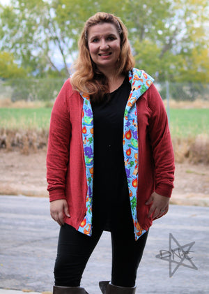 Lost Coast Cardigan PDF Pattern Women XS-XXXL