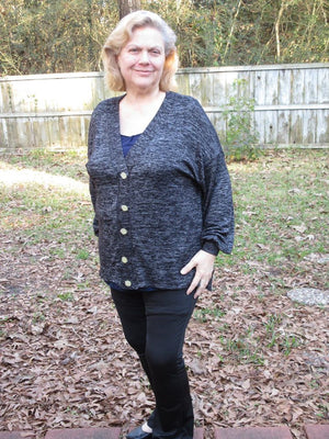 Nightingale Cardigan and Hi-Low Crop PDF Pattern Women XS-XXXL