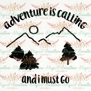 Adventure is Calling Digital Cut File