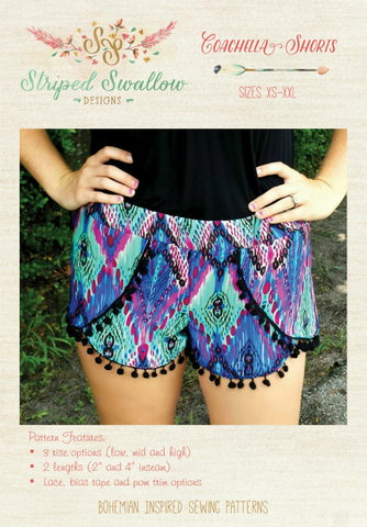 PAPER Pattern - Coachella Shorts Women (XS-XXL)