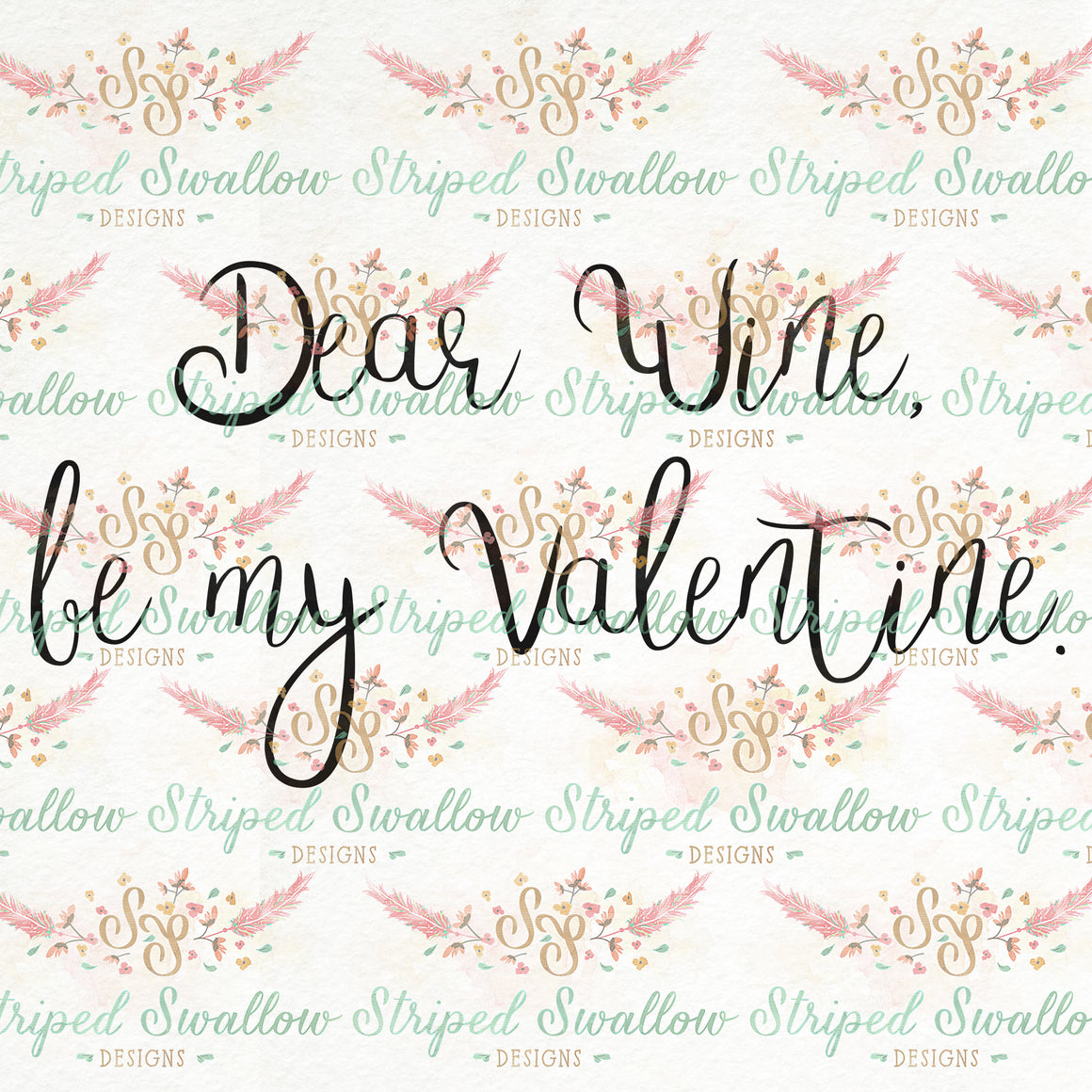 Dear Wine Digital Cut File