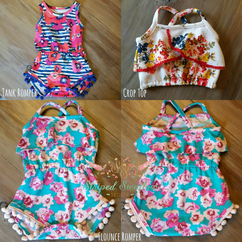 Baby Emerie Romper and Crop Top PDF Pattern NB-2T