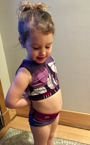 On Pointe Crop Top and Briefs PDF Pattern 2T-14yrs