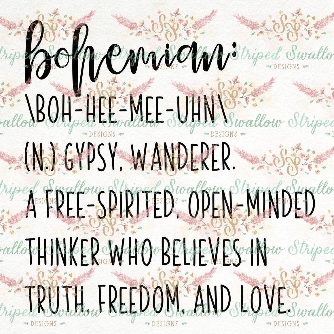 Bohemian Digital Cut File