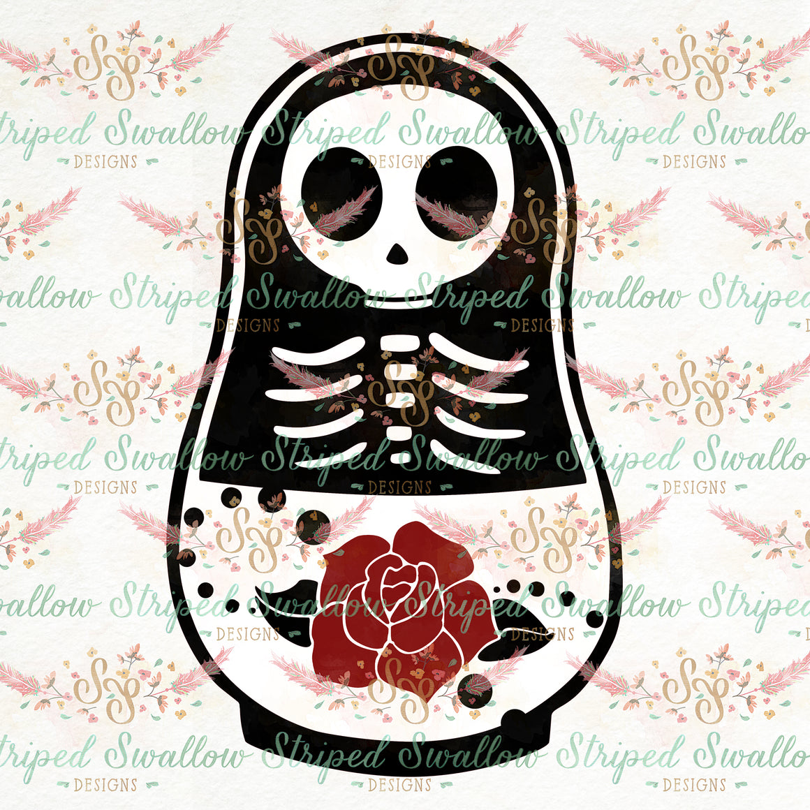 Matryoshka Layered Digital Cut File