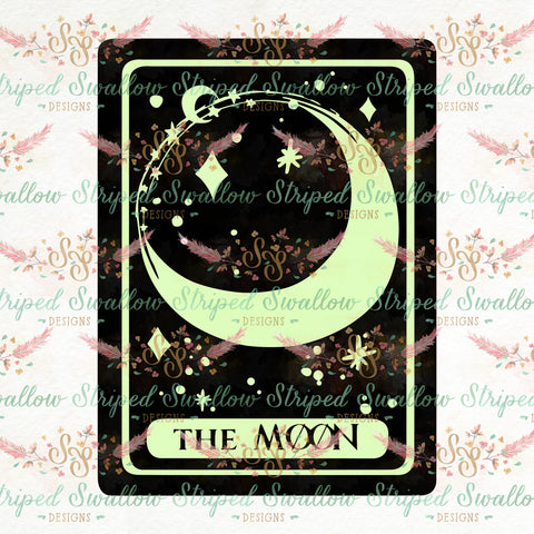 The Moon Tarot Layered Digital Cut File