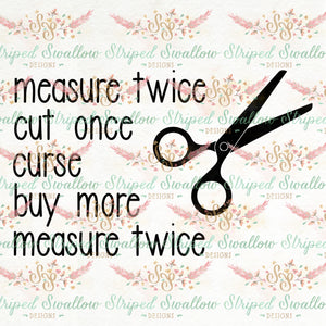 Measure Twice Digital Cut File