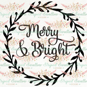 Merry & Bright Digital Cut File