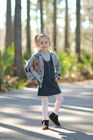 Nightingale Cardigan and Hi-Low Crop PDF Pattern Girls 2T-14yrs