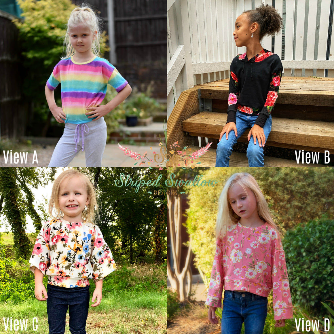 Daisy Babe PDF Pattern Girls 2T-14yrs