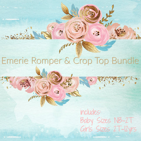 Emerie Romper and Crop Top Bundle