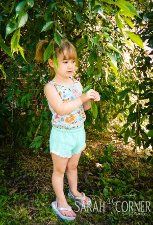 Emerie Romper and Crop Top PDF Pattern 2T-12yrs