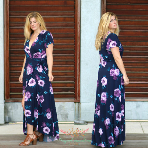 Summer Dawn Wrap Dress PDF Pattern Women XS-XXXL