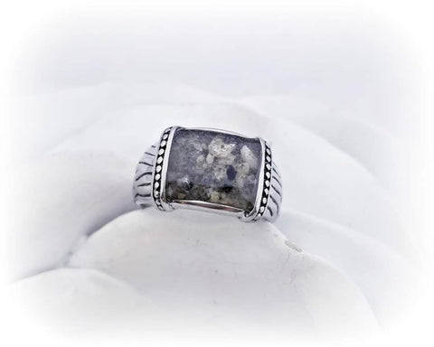 Men's Cremation Ring Made with Ashes