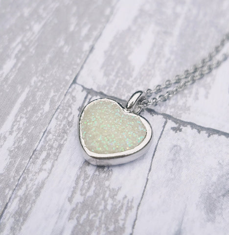 Heart Breast Milk Necklace - Dainty Breast Milk Jewelry