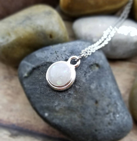 Round Cremation necklace