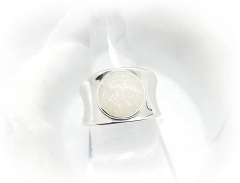 Wide Band Sterling Silver Cremation Ring - Pet Loss Memorial Ring - Cat Cremation - Dog Cremation - Pet Memorial Jewelry - Urn Ring Made with Ashes