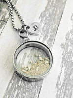 Cremation Necklace - Round Locket for Ashes