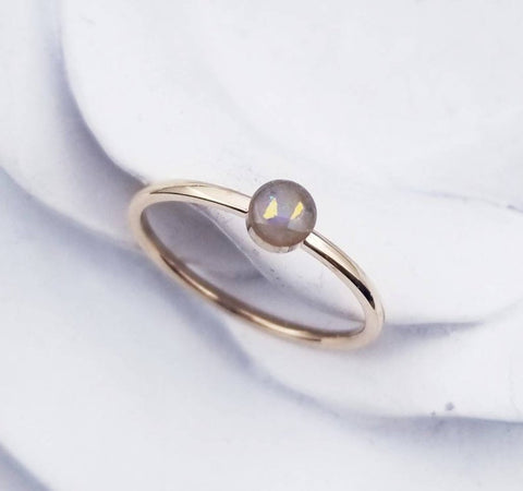 Rose Gold Plated Cremation Ring for Pet or Human Ashes