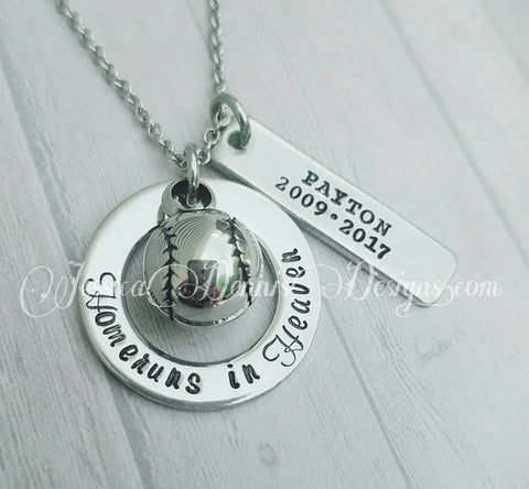 Cremation Jewelry - Homeruns in Heaven - Baseball Urn Necklace - Urn Necklace or Keychain - Baseball Cremation Key chain - Childloss