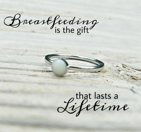 Breast Milk Ring - Breast Milk Jewelry - Preserved Breast Milk Ring - Breastfeeding Memorial Jewelry - Mommy's Milk Ring - Custom Made