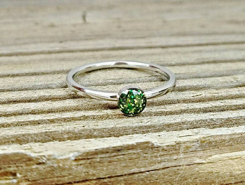 Cremation Ring - Urn Ring with Ashes - Custom Memorial Ring -  Cremation Jewelry - Child Loss Ring - Cremation Birthstone Ring - Pet Loss Gift