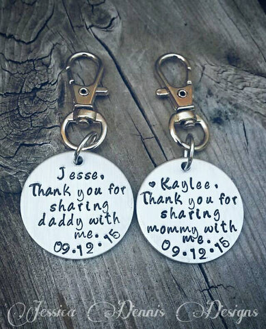 Wedding gift for Kids - Thank you for sharing mommy/daddy with me - Including children - Blended Family- Bride's Children - Groom's Children