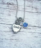 Cremation Necklace Dad - Tiny Urn Necklace - Custom Made Urn necklace - Heart Necklace - Memorial Necklace - Birthstone Urn