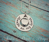 Cremation Necklace - Urn Necklace - Custom Made Urn necklace - Heart Necklace - Memorial Necklace - Always in my heart