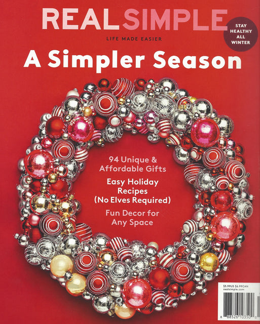 SEEN & HEARD - REAL SIMPLE - DECEMBER 2018