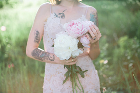 Vicy Stone and wild peonies