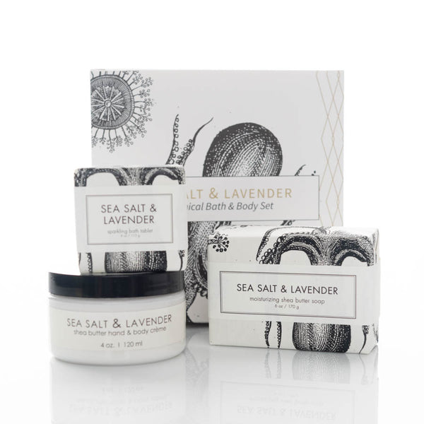 sea salt and lavender set