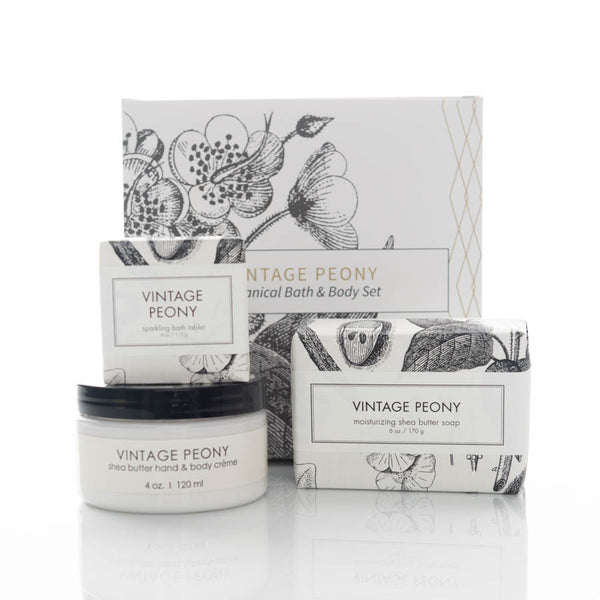 Botanical Bath & Body Gift Set - Vintage Peony
