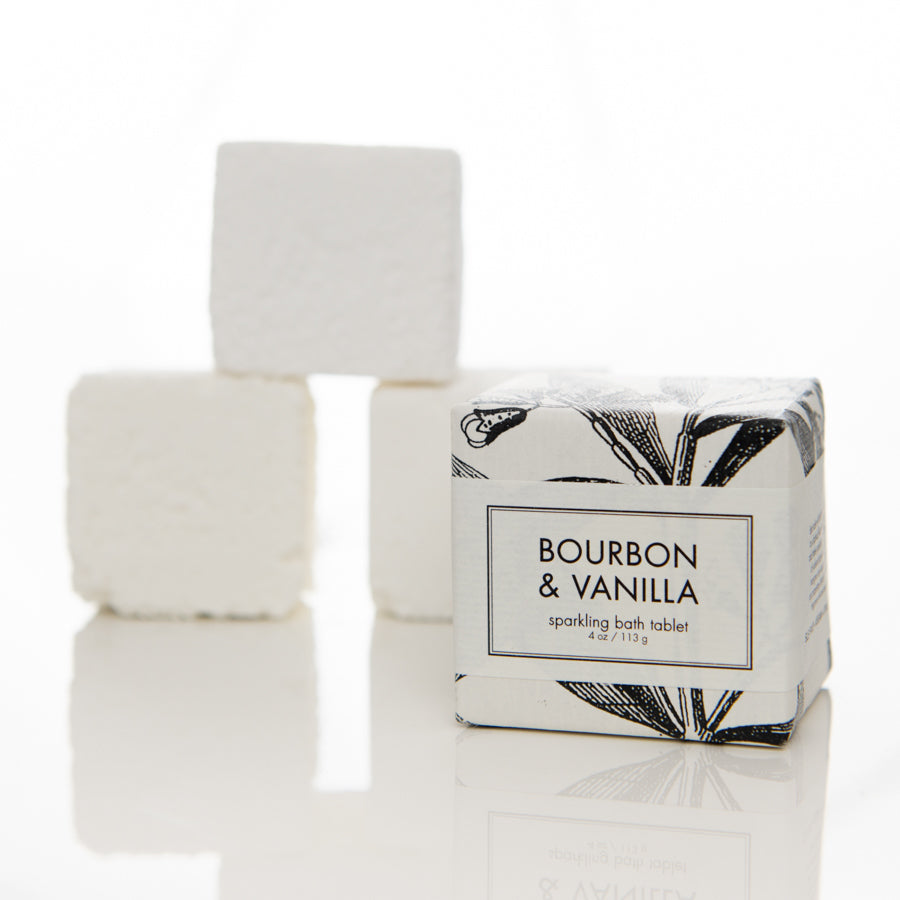 bourbon and vanilla bath tablet