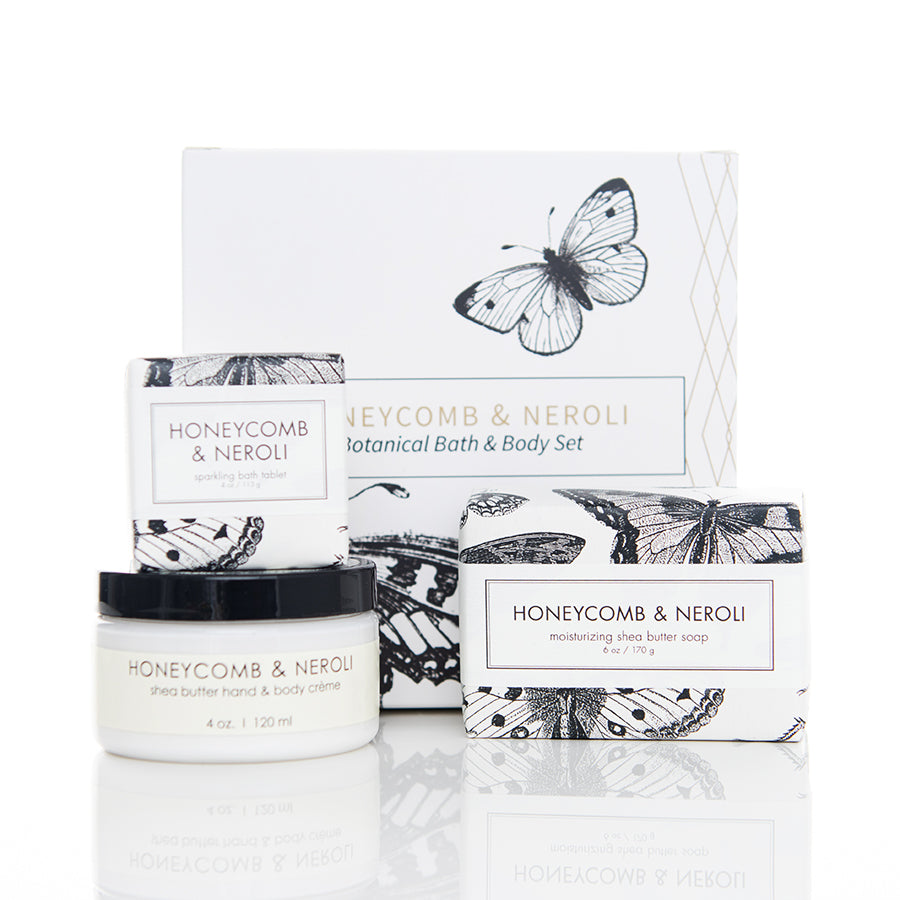Botanical Bath & Body Gift Set - Honeycomb & Neroli