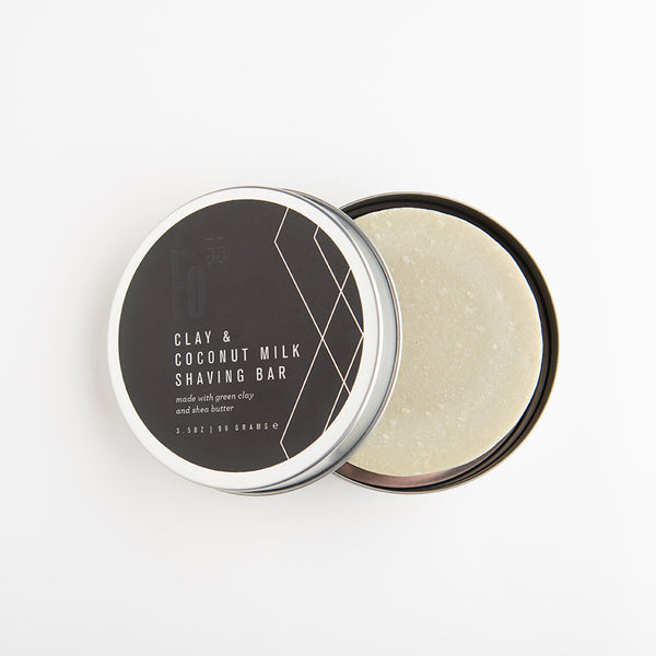 Modern Men's Care Shaving Soap - Green Clay & Coconut Milk