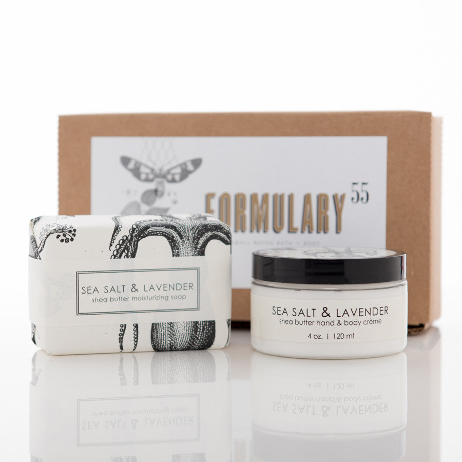 Sea Salt & Lavender - Shea Butter Hand Cream and Soap Gift Set