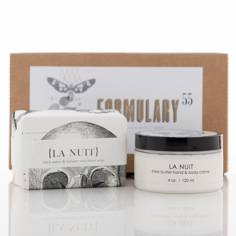 Shea Butter Hand Cream and Soap Gift Set - La Nuit
