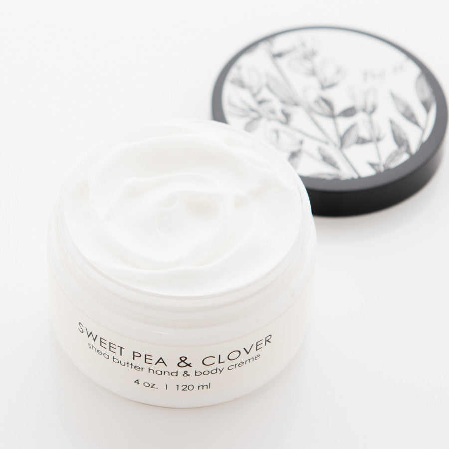 SHEA BUTTER HAND CREME - Sweet Pea & Clover