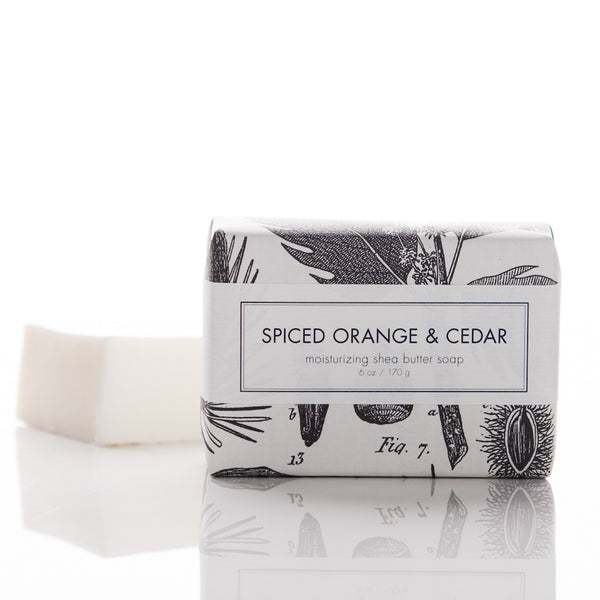Holiday Shea Butter Bath Bar - Spiced Orange & Cedar